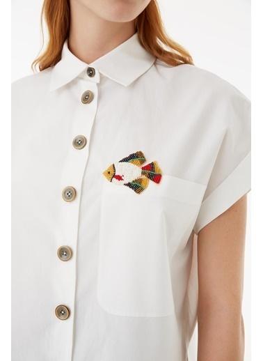 Exquise Gömlek Beyaz